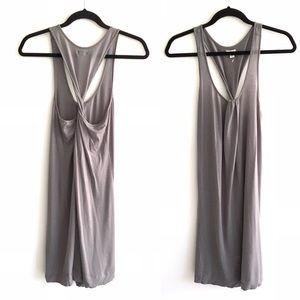 ARITZIA Wilfred Twist Back Tank Dress Grey M